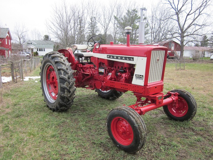 Farmall 504 Gas Restoration Photos