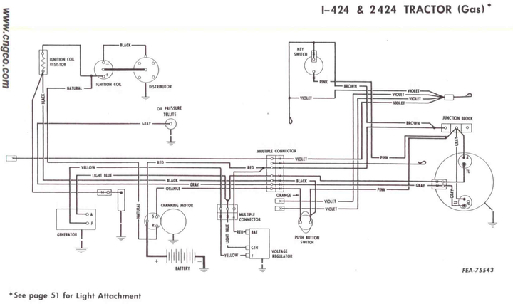 need wiring diagram  help on 424-gas