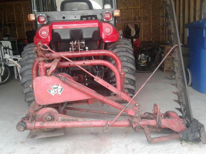 MF 3pt Sickle Bar Mower Model Numb    - Yesterday's Tractors