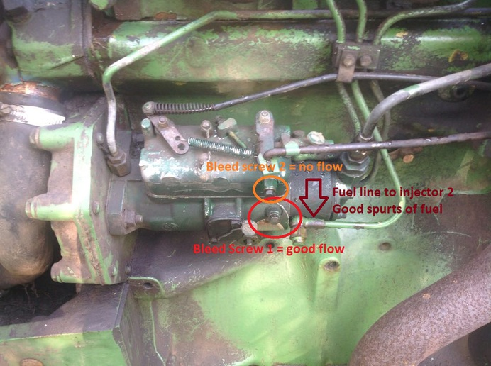 John Deere Injection Pump Troubleshooting >> Jd 2040 Weird Fuel Problem Yesterday S Tractors