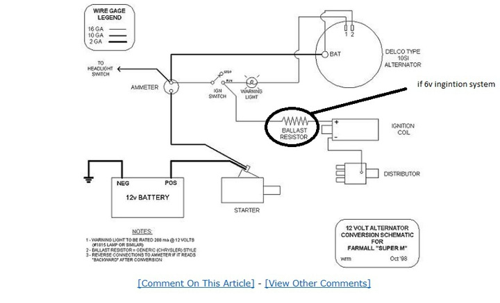 farmall 140 converting to alternator yesterday\u0027s tractors 6 volt farmall h wiring diagram ih 140 wiring diagram wiring
